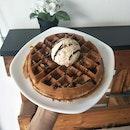 Strawberries and Cream on Signature Waffles