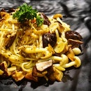 Theres the Mushroom Aglio Olio, which is moderated to suit local palates; less oily, not too heavy on the garlic.
