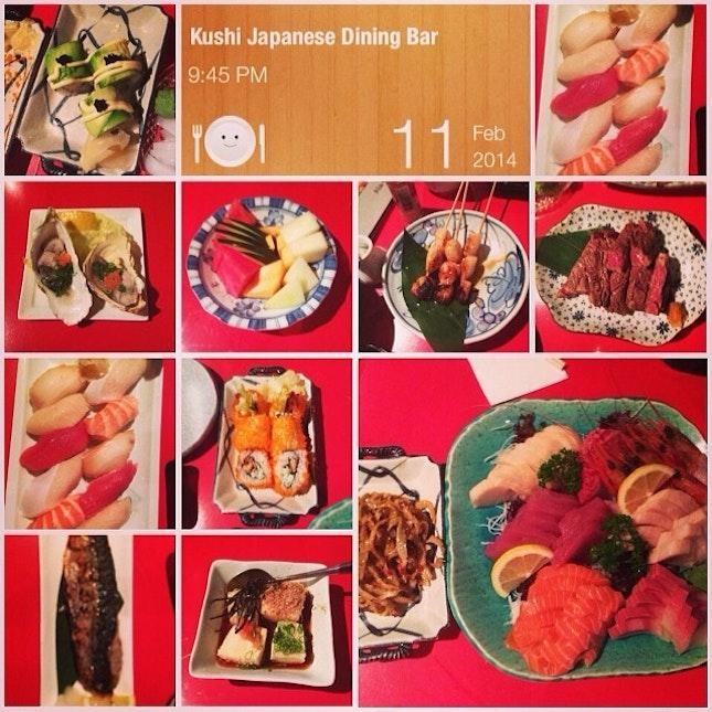#oishii #alacarte #japanese #buffet #fresh #sashimi #sushi #sukiyaki #burps #instafood #foodporn #kushijapanesediningbar