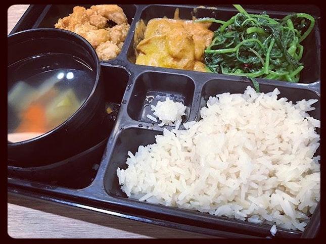 #because #happylunchkaki #wanttoeat 🥦 #vegetarianbento #3cai1tang #today #eatgreen #feelgood 🍱 #instafood #foodporn #foodlover #burpple #greendot #onerafflesplace #greendotsg #felzfooddiary