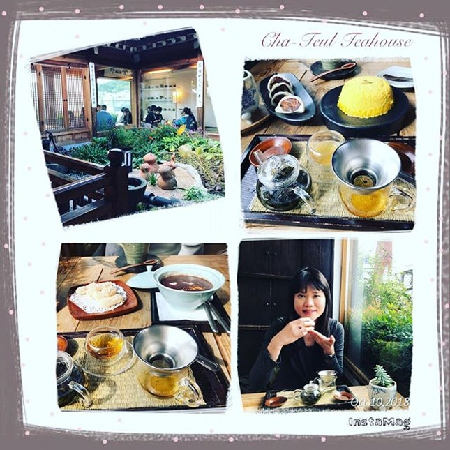 #sweettooth #hunting for #koreandessert #koreantea 🍮 in #koreanteahouse #instafood #instadrink #instadessert #foodporn #foodlover #burpple #instalongweekend #instatravel #chateul #teahouse #seoul #southkorea #felzfooddiary #felztravelfootprint2018 #busanseoulday6 #kr