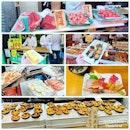#wholesome of #freshness #livecatch from #fishmarket #summary of my #breakfast #sashimi #grilledseafood 🍣 #slowdowntime #simplyblissful #wherethelocalsgo #instafood #foodporn #foodlover #burpple #instaweekend #instatravel #築地市場 #tsukijifishmarket #tokyo #japan #felzfooddiary  #felztravelfootprint2018 #felzworktrip #tokyoday2 #jp