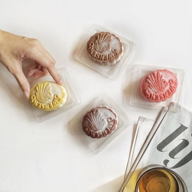 Crunchy Milo, Lychee Dreams and Yummy Yam, Durian Royale and Sticky Chewy Chocolate flavored snow skin ice cream mooncakes.