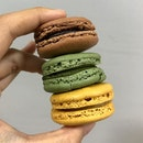close-up of macarons from @twgteaofficial