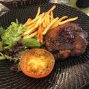 Chicken steak with cranberry sauce