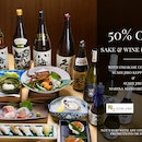 50% Discount For sake & wine With Omakase