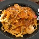 Chili Tomato Seafood Spaghetti
