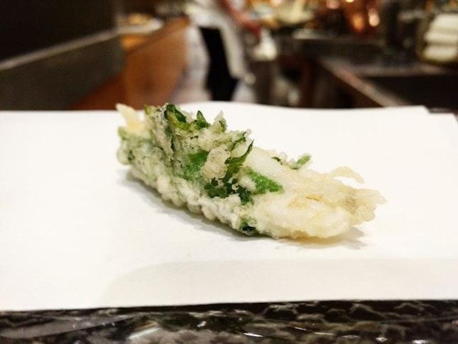 Tenshin 👍🏻 ✅Course Meal {10} Course 6: Tempura Fish.