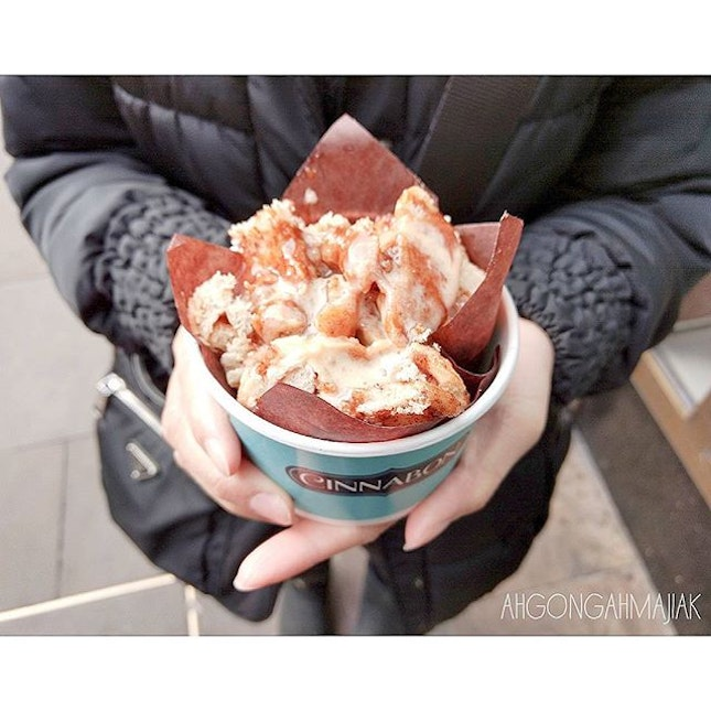 Cinnabon 👍🏻 ✅ Roll-on-the-go {9} [£3] Fancy some sweet treat on the go when you're making way to your desired destination on foot?