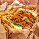 Whipping up a Meat frenzy in me, @toastiessg serves up a satisfying Steak & Cheese Sandwich!