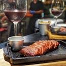 Flat Iron + Malbec = ❤️🔥💥👏 Thank you, @fatbellysg for bringing alternative cuts to steak lovers like me!