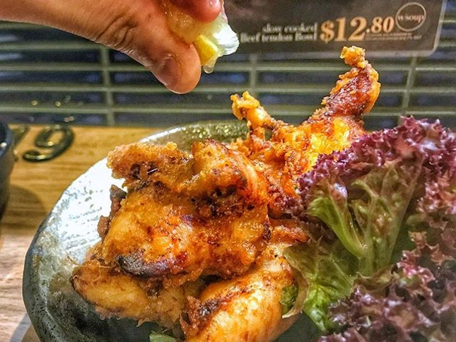I always test the fried chicken at every Japanese Joint that serves it.