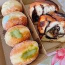 Matcha, Passionfruit Doughnuts, Babka
