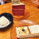 Red Velvet Cake W Caramel Cream Cheese, Tres Leches Cake