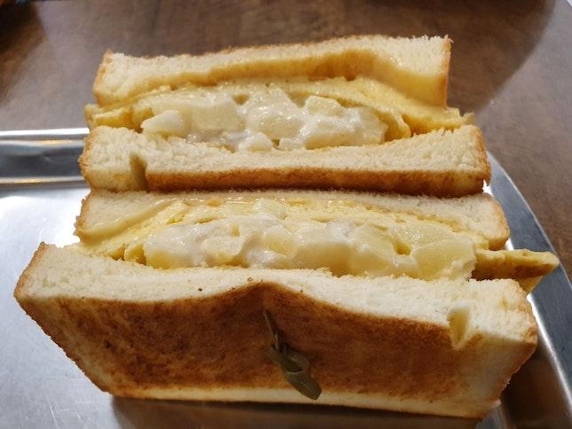 Potato and Cheese Toast