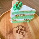 Double Posting @ Toby's The Dessert Asylum Featuring Ondeh Ondeh Cake and Bake of The Day! ~ Matcha Cake with Red Bean.