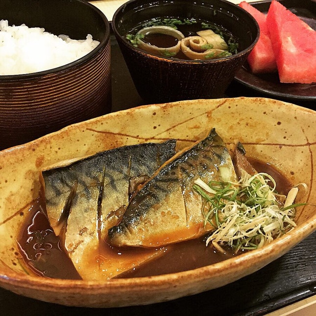 Saba Misoni Set At Sushi Goshin @ VivoCity, 1 Harbourfront Walk #B2-28.
