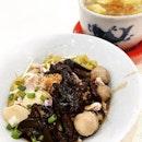 Mushroom Minced Meat Noodle & Teochew Dumpling Soup @ Li Yuan Mee Pok 栗原ミーポック, Blk 710 Clementi West Street 2.