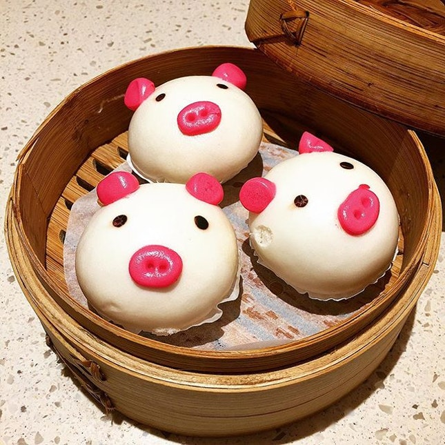 Irresistible Cuteness Steamed Molten Salted Egg Yolk Custard Piggy Bun 猪仔流沙包 @ Canton Paradise, JEM, 50 Jurong Gateway Road #B1-11.