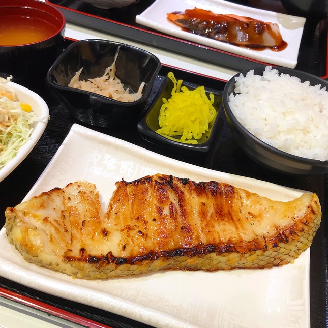 Mero Saikyo-Yaki Set @ Nakajima Suisan Grilled Fish, Basement 2 Takashimaya Food Hall, 391A Orchard Road, Ngee Ann City.