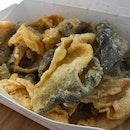 Salted Egg Yolk Fish Skins @Wokinburger | Blk 124 Bukit Merah Lane 1 | #01-136.