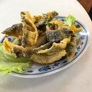 Salted Egg Yolk Fish Skin @KengEngKee Seafood 瓊榮記海鲜 | Blk 124 Bukit Merah Lane 1 #01-136.