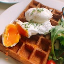 Poached Eggs On Waffle