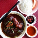 Braised Pig Trotter with rice.