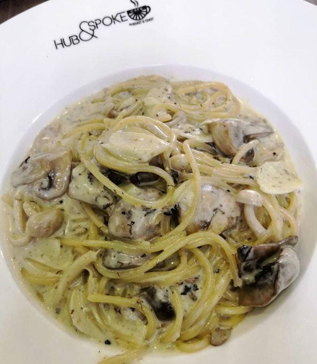 Truffle Mushroon Pasta($14.90)🤔