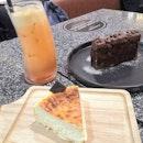 Burnt Cheesecake And Orange Triple Chocolate