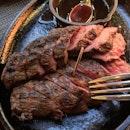 Woodfire Grill Ribeye Cap Steak($128)