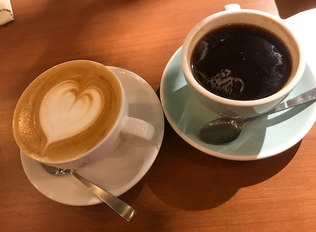 Flat White & Black Coffee
