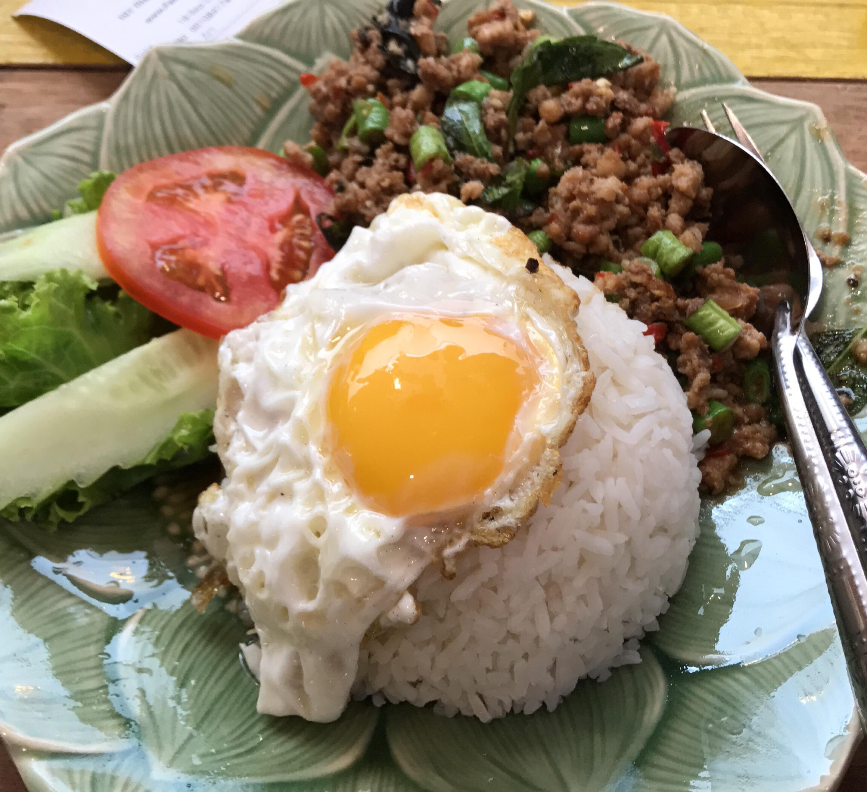 Basil Spicy Pork Rice