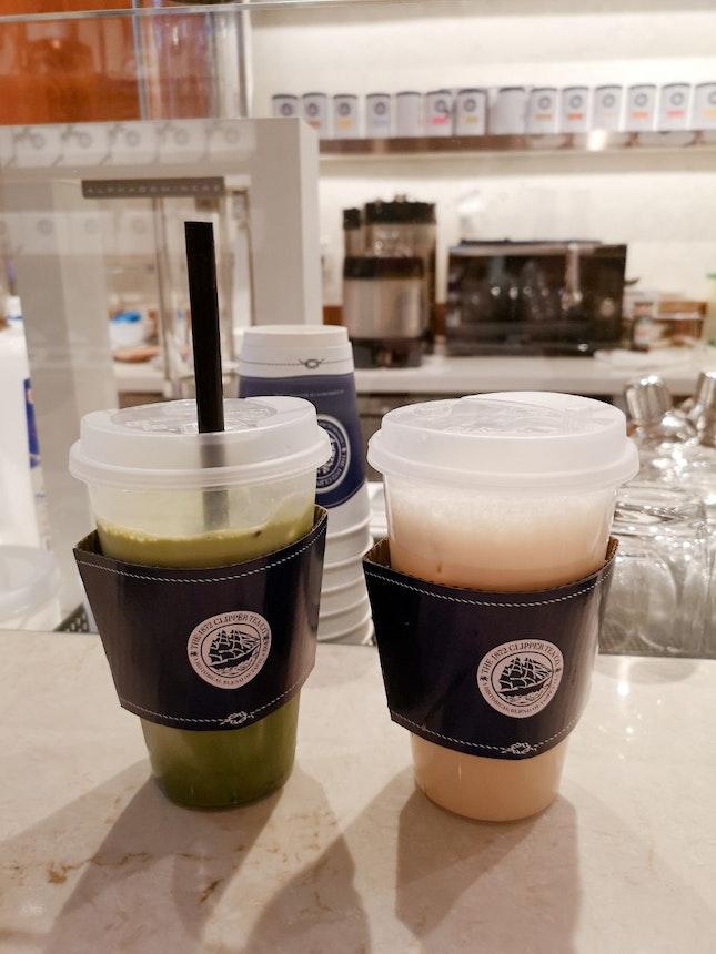 Matcha Latte And Oolong Latte