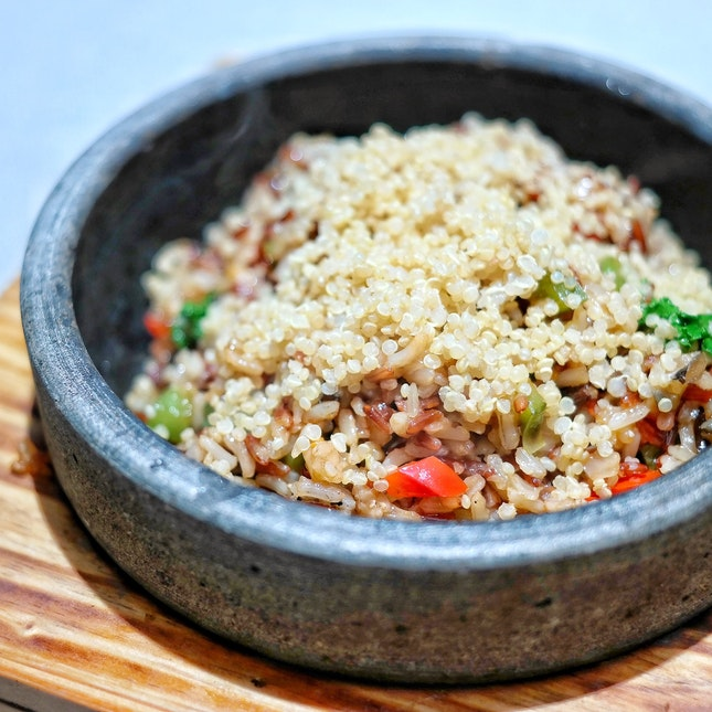 Sizzling Quinoa Brown Rice [$15.80++]