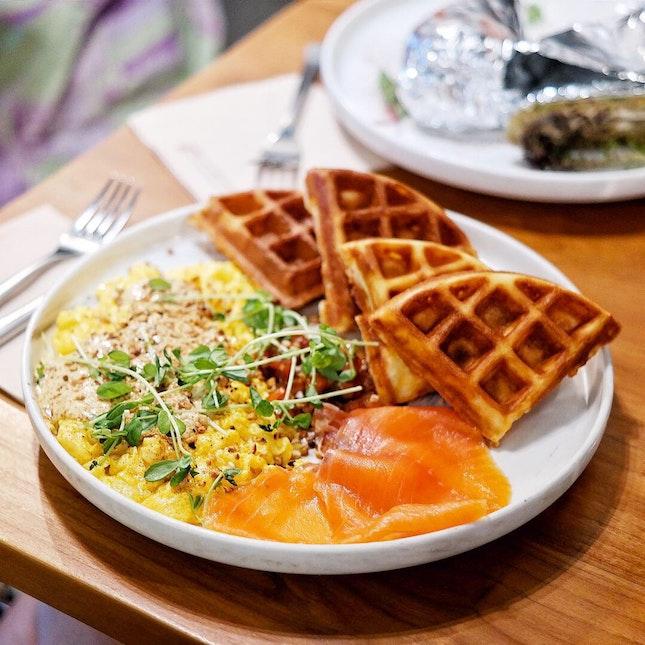 Savoury Waffles [$21]