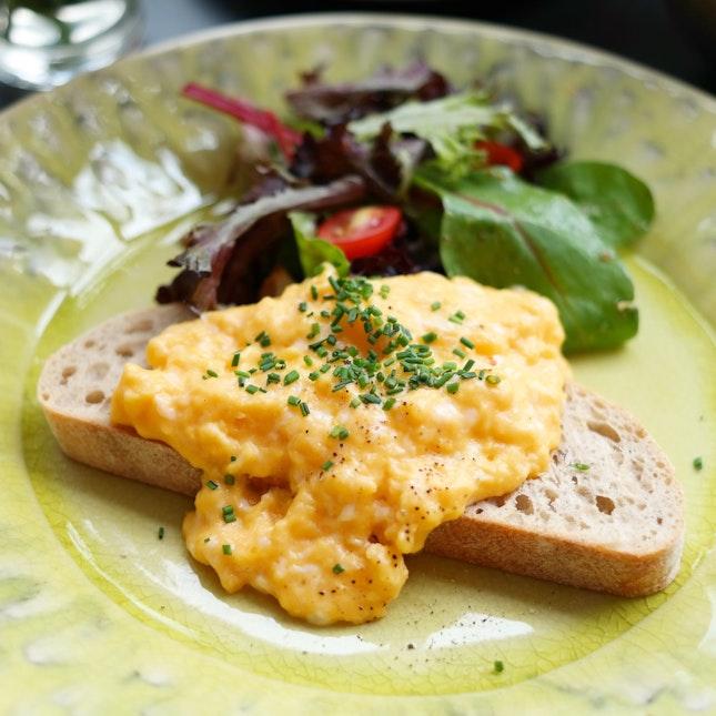 NZ Scrambled Eggs On Sourdough