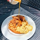 Chicken And Waffles And Scrambled Eggs