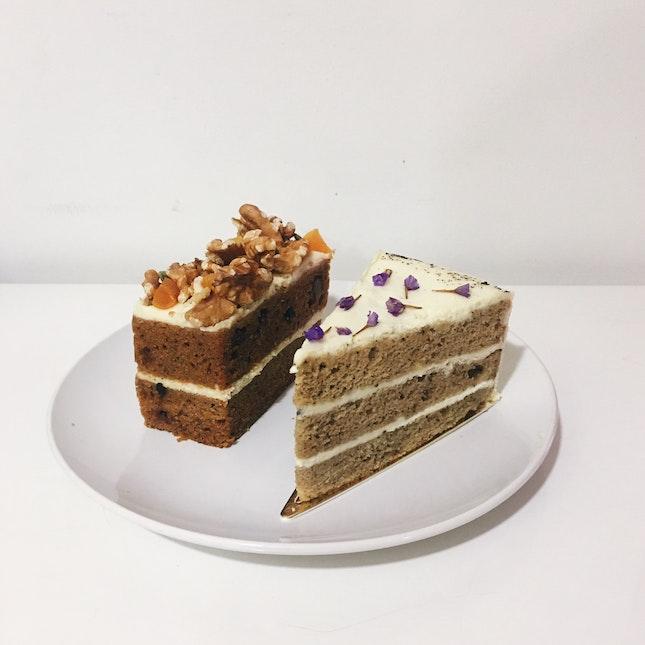 Earl Grey Lavender Cake & Carrot cake
