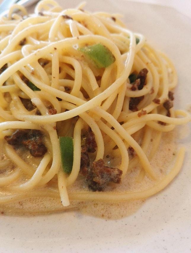 Lamb Carbonara