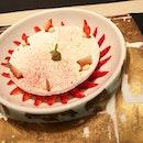 "Le Vacherin :: ""Chitose"" strawberry vacherin, feijoa sorbet and Tahiti vanilla smoothness :: #dessert @joel_robuchon_singapore #corainsingapore swipe for more pics 📲 ."