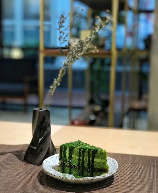 Matcha Azuki Cake ($7.80)