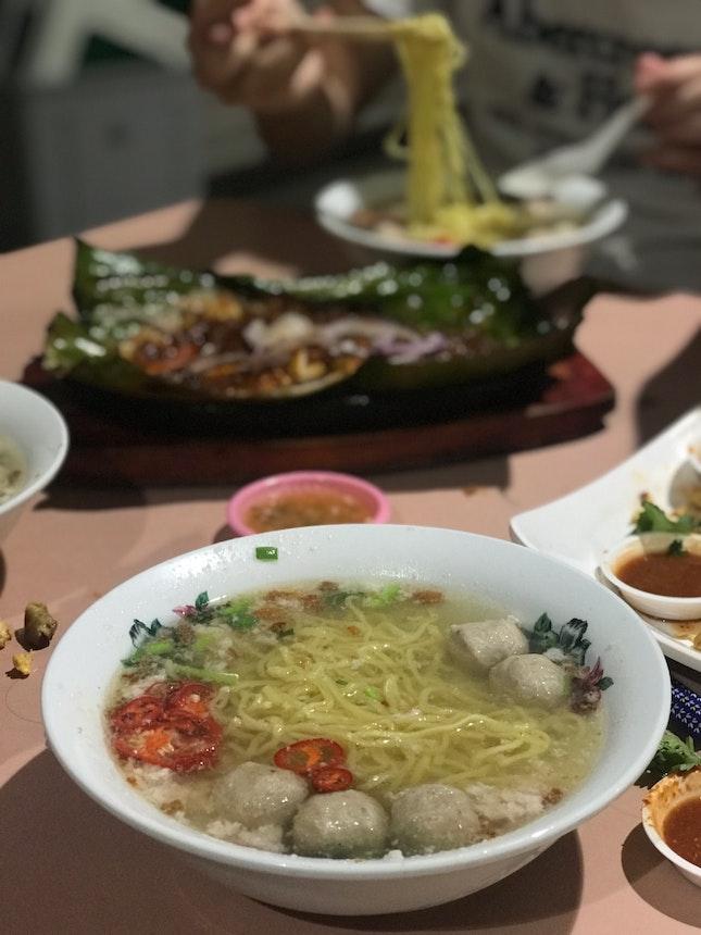 Soup BCM ($3) from Xing Ji Rou Cuo Mian