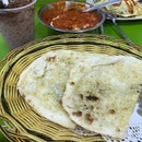 Butter Chicken ($10 For M), Garlic Naan ($2.50), Maggie Pattaya Chicken ($5.50), Milo Dinosaur ($2.50)