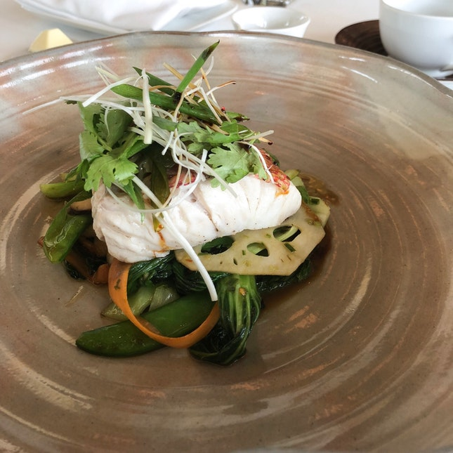 Steamed Japanese Sea Bream (Part of the 3-Course Express Prix Fixe Menu $45)