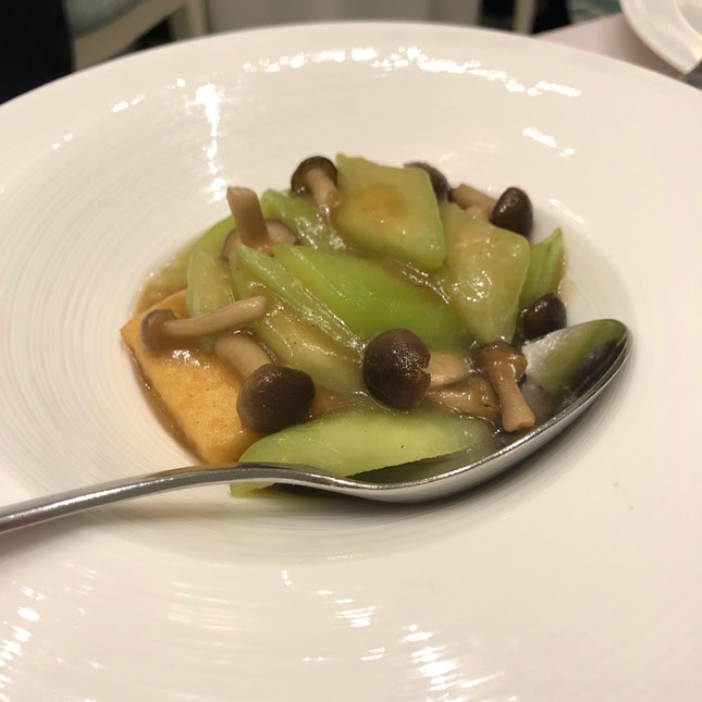 Stewed Homemade Bean Curd with Angel Gourd ($13 per person/$28 per portion)