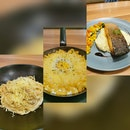 Carbonara, Mac and Cheese and Salmon Teriyaki