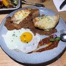 Double Cheese, Ham And Egg Toastie
