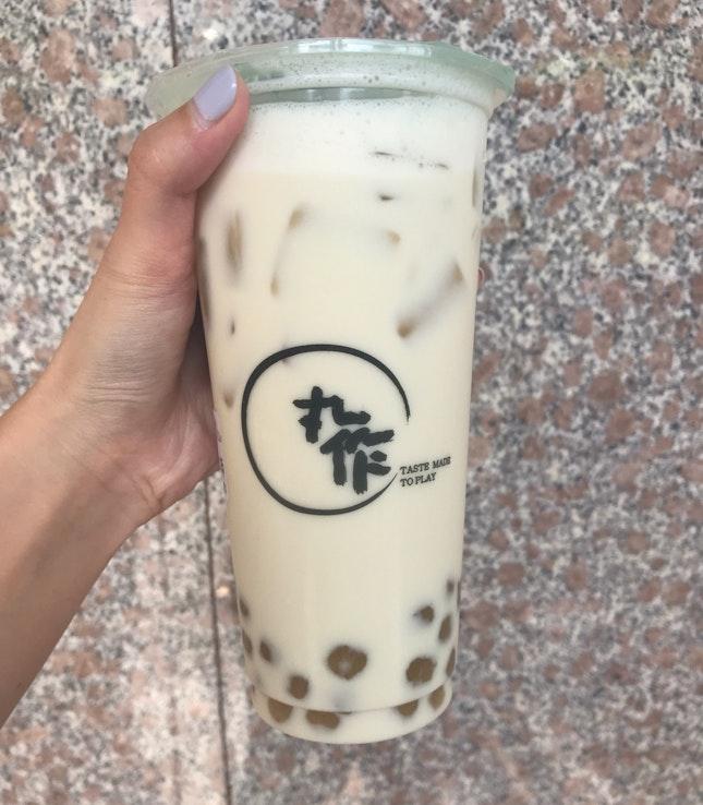 Chrysanthemum Milk Tea + Chrysanthemum Pearls ($5.40)