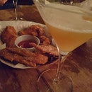 Saturday night out with chicken wings and martinis!
